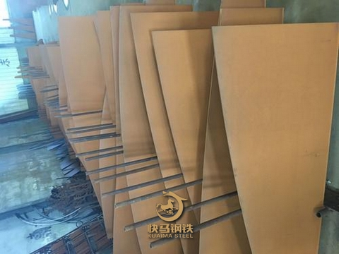 耐候红锈板镂空,q355nh耐候考登钢板