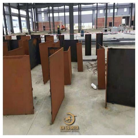 锈蚀钢板树篦子厂家销售,耐候红锈钢板厂家批发
