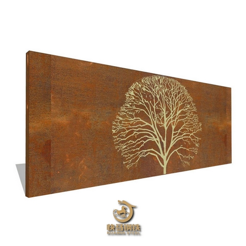 激光切割锈蚀红锈钢板,耐候锈钢板厂家定制