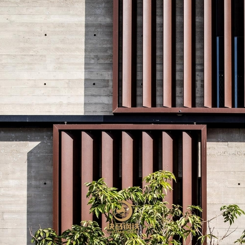 q235nh耐候镂空钢板,红锈色耐候钢板幕墙厂家