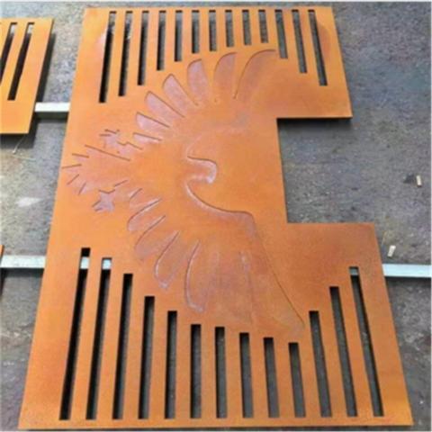 园林耐候钢板雕刻的图案